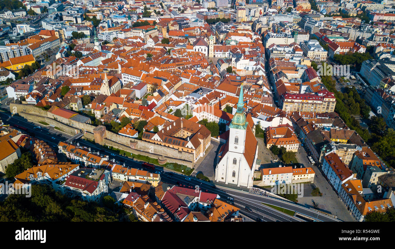 St Martin's Cathedral or Dóm sv Martina, Old Town, Bratislava, Slovakia - Stock Image