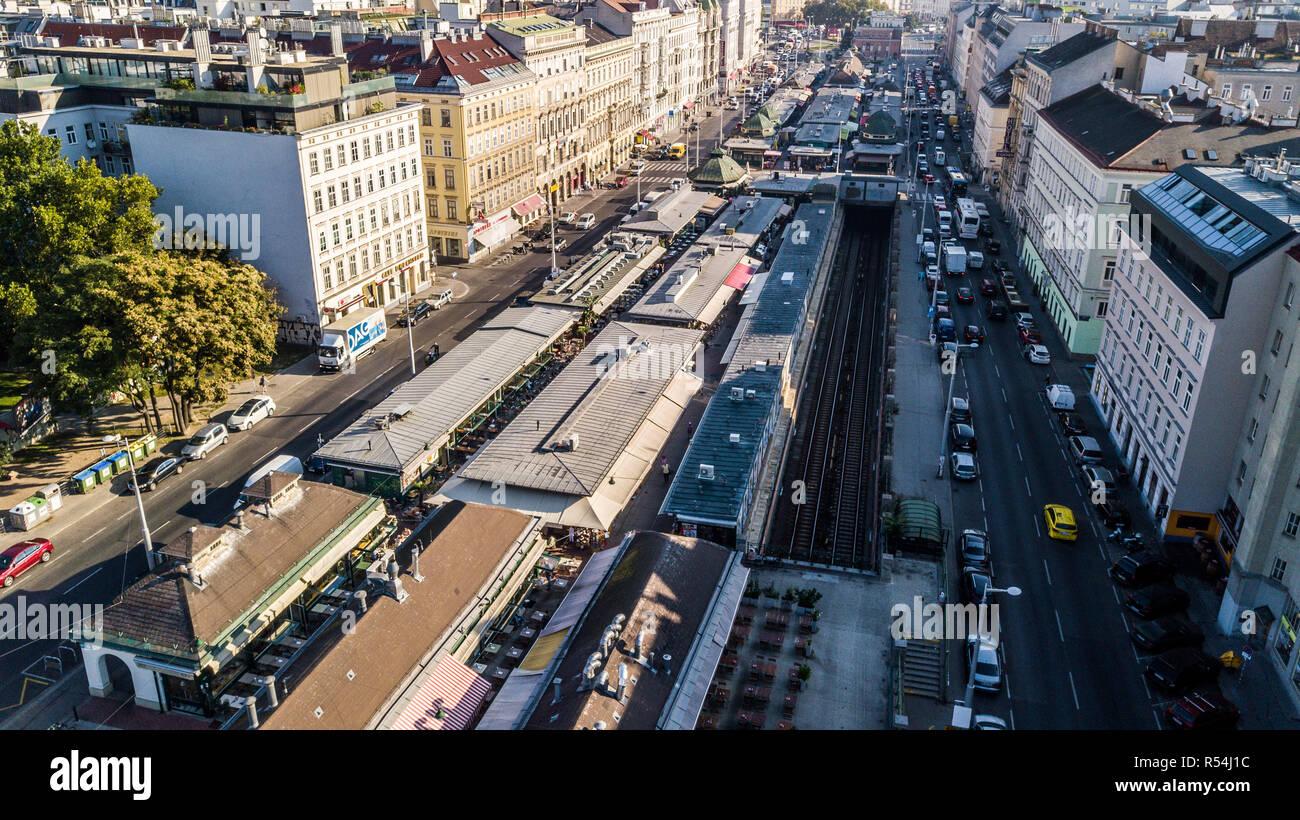 Naschmarkt, Vienna's most popular market, Vienna, Austria - Stock Image