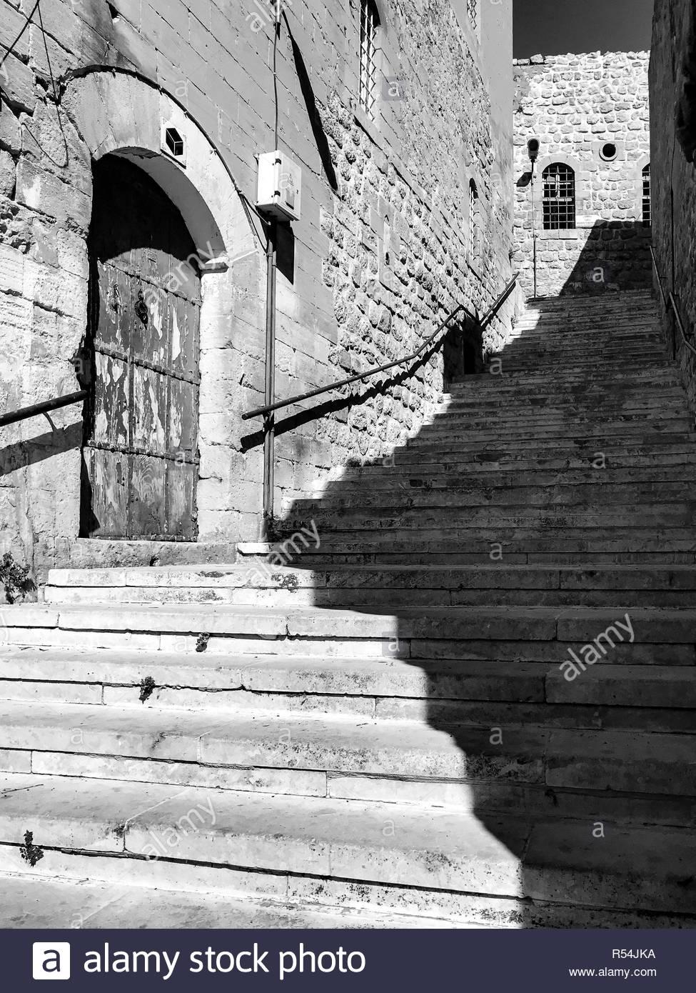 Street scenes from Mardin old city and surrounding areas. Mardin / Turkey: September 2018 by Hulki Okan Tabak. - Stock Image