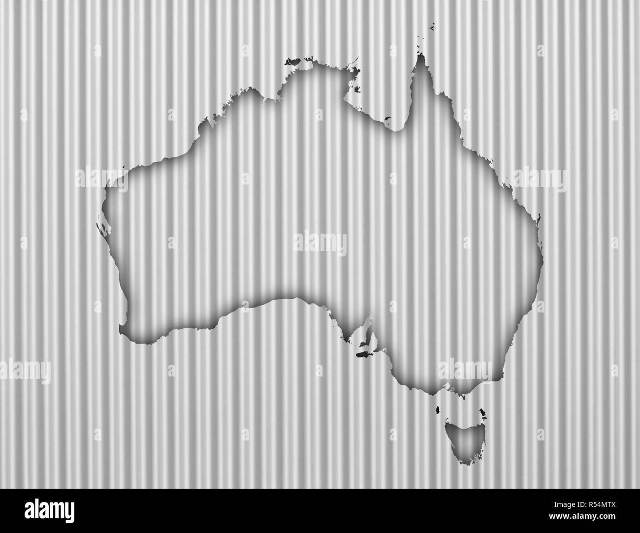 Australia Map In R.Map Of Australia On Texture R Stock Photo 226912250 Alamy
