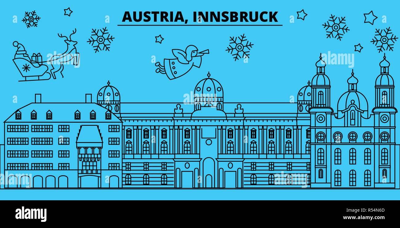 Christmas In Austria Holidays.Austria Innsbruck Winter Holidays Skyline Merry Christmas