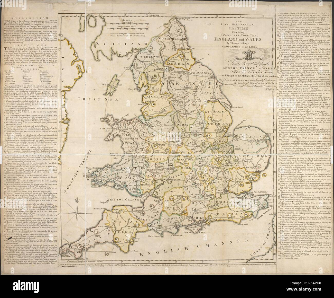 Map Of England Wales.A Map Of England And Wales For The Purposes Of A Game The Royal
