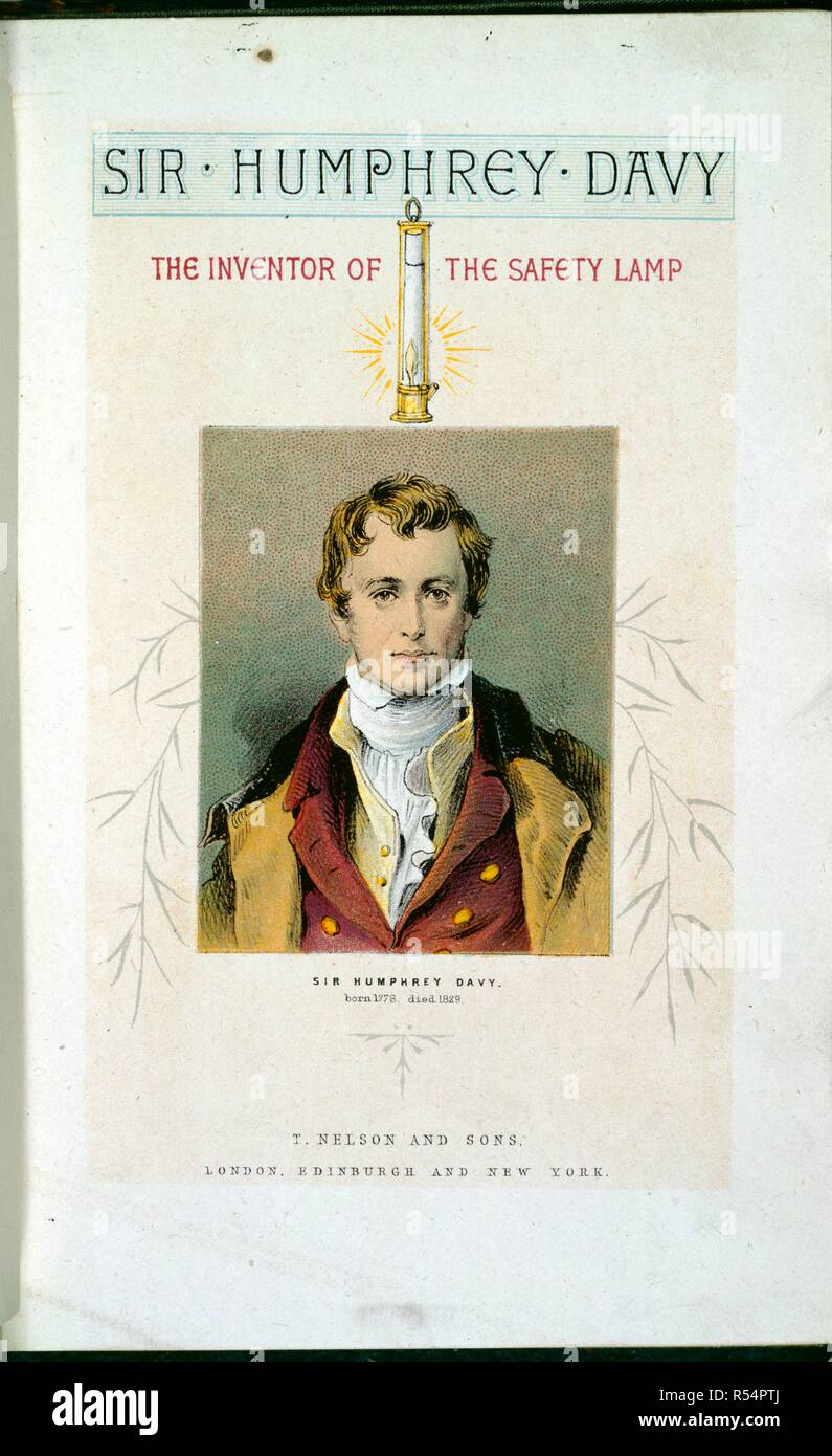 Sir Humphrey Davy 1778 1829 English Chemist And Inventor Of The