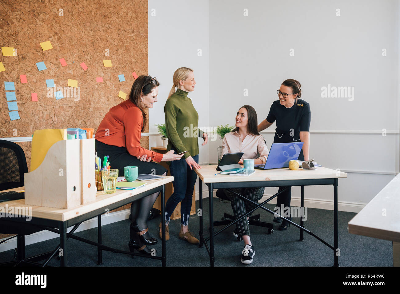 Female Workers In An Office - Stock Image