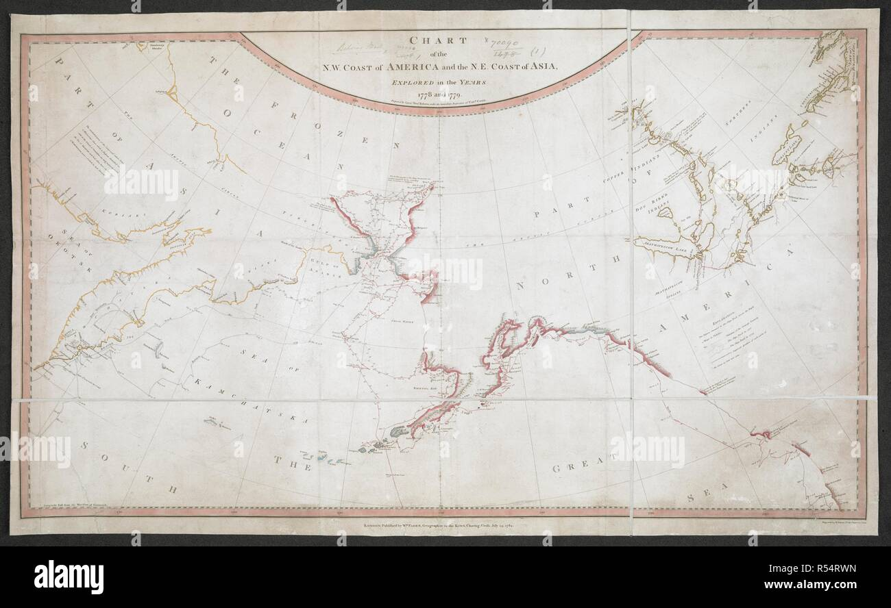 Image of: A Chart Of The North West Coast Of America And The North East Coast Of Asia Chart Of The N W Coast Of America And The N E Coast Of Asia Explored