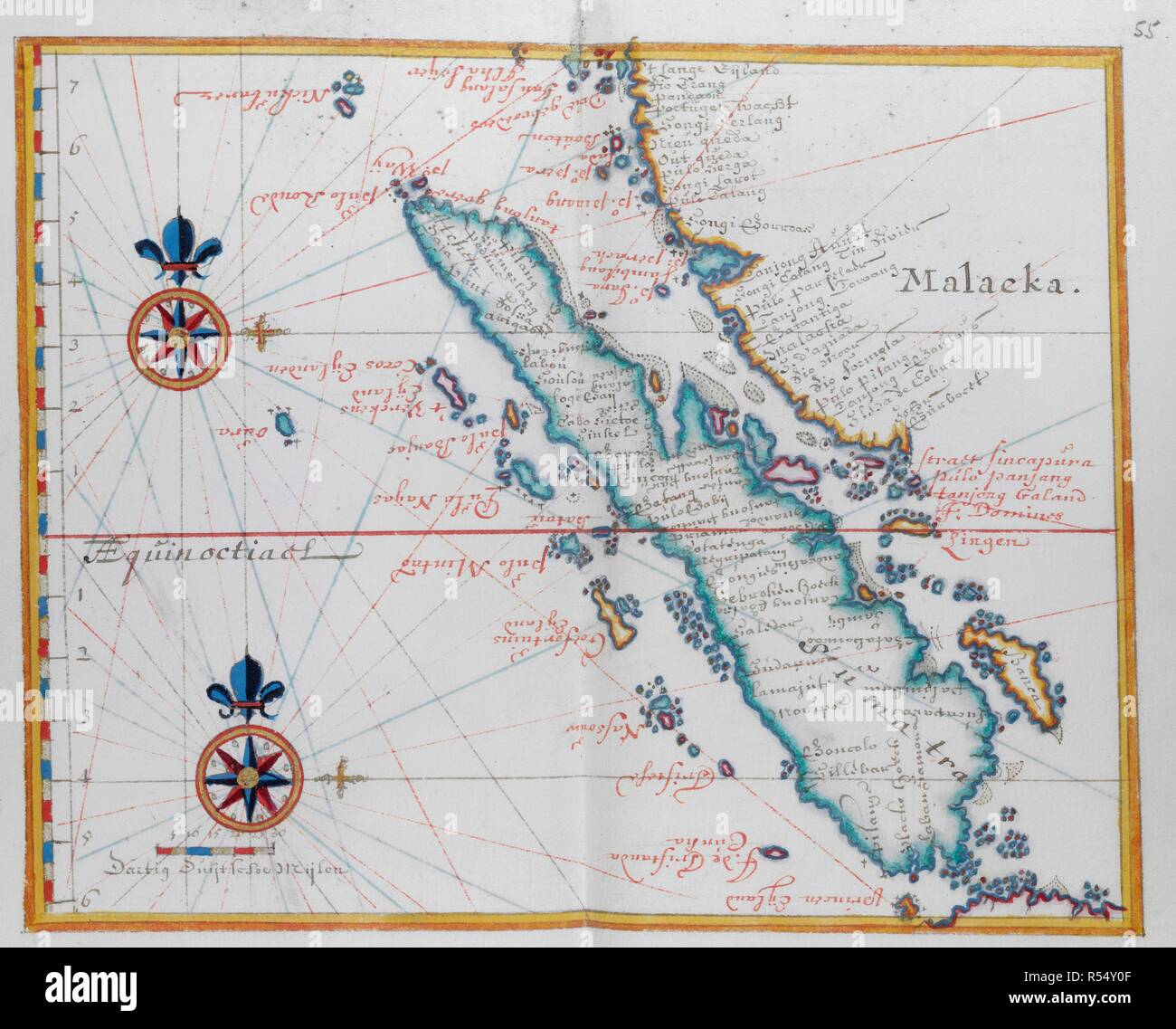 Map Showing Malacca And Sumatra Western Indonesia Part Of The