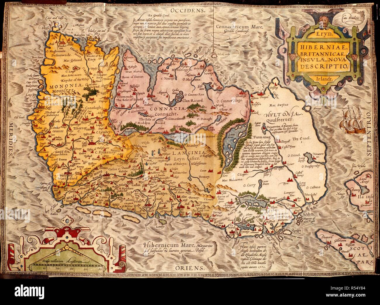 Map Of Ireland England.Map Of Ireland On The Governance Of Ireland England 1572 Whole