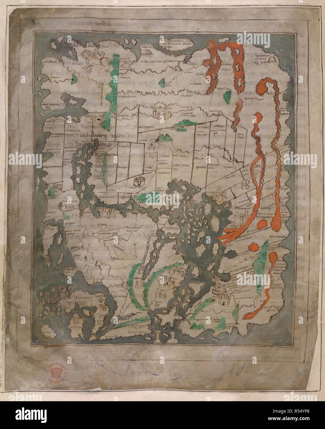 First Accurate Map Of The World.The Tiberius Map Mappa Mundi Only Surviving World Map From Anglo