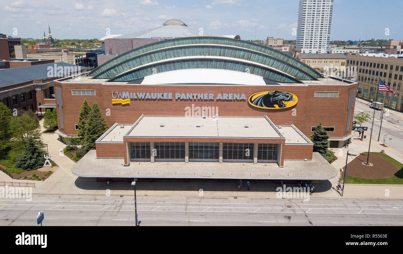 UW Milwaukee Panther Arena, Milwaukee, WI, USA Stock Photo