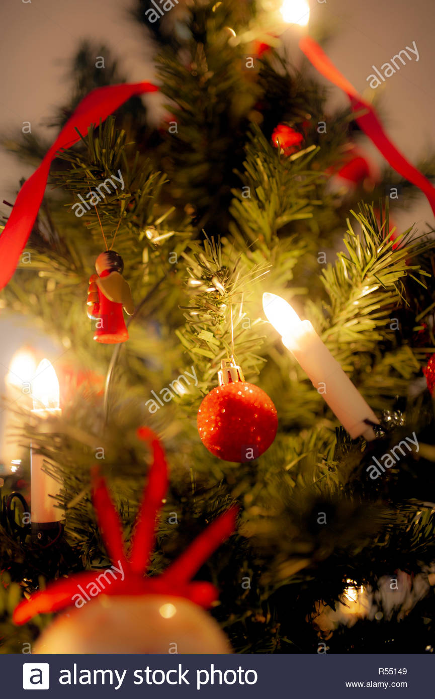 Christmas tree and hygge time - Stock Image