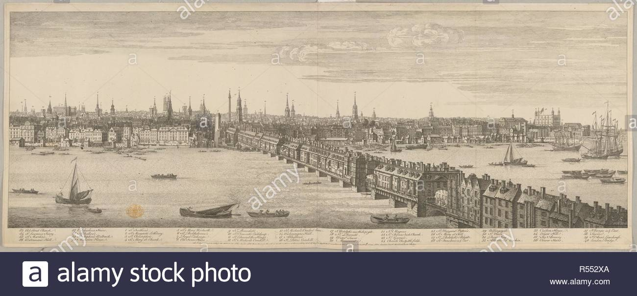 Map Of London Bridges Over The Thames.A View Of London Bridge Over The River Thames A View Of London In