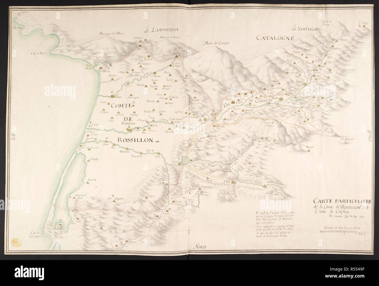 Map Of France In French Language.A Map Of The County Of Rossillon And The Conflens Valley France A