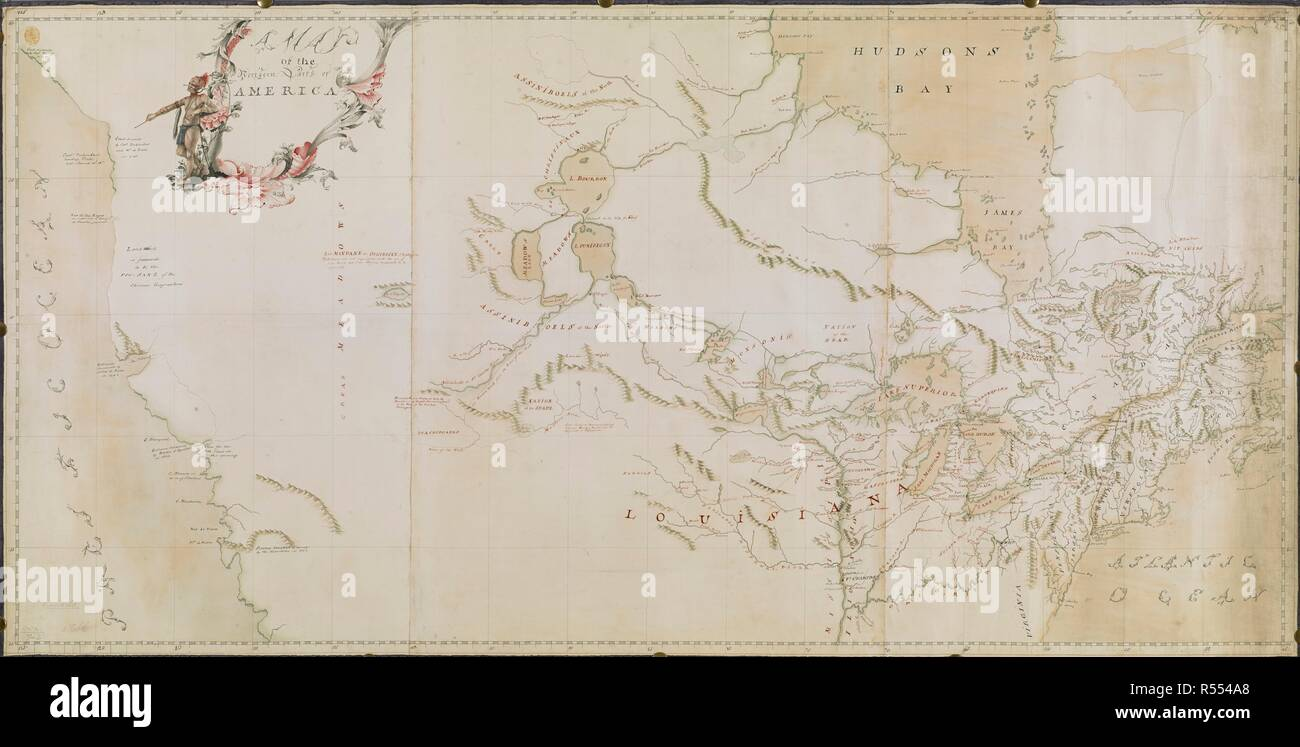 North Arrow On Map Of Canada.A Map Of The Northern Parts Of America Canada The Illustrated
