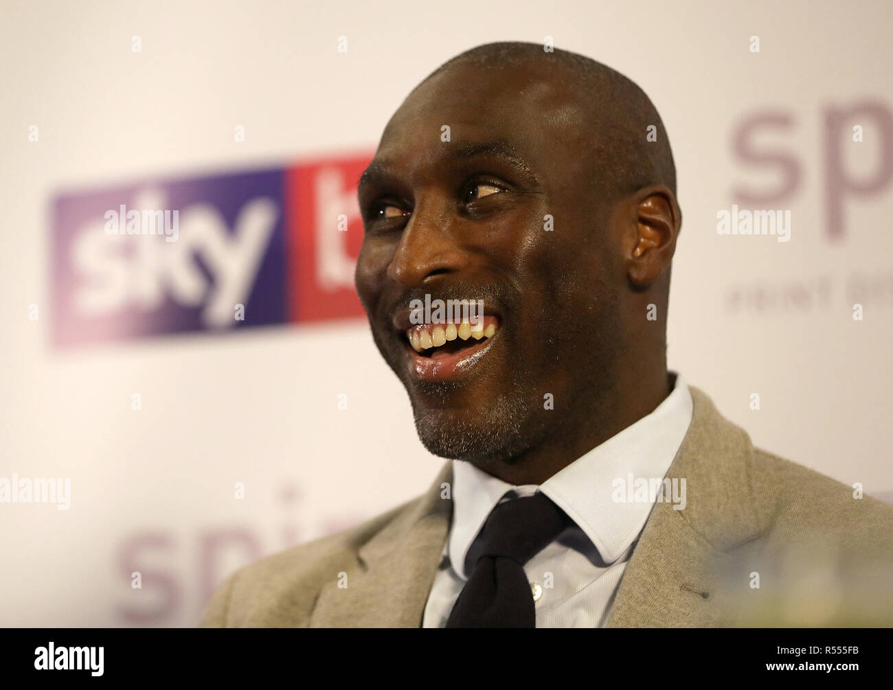 Macclesfield Town's new manager Sol Campbell during the press conference at Moss Rose, Macclesfield.