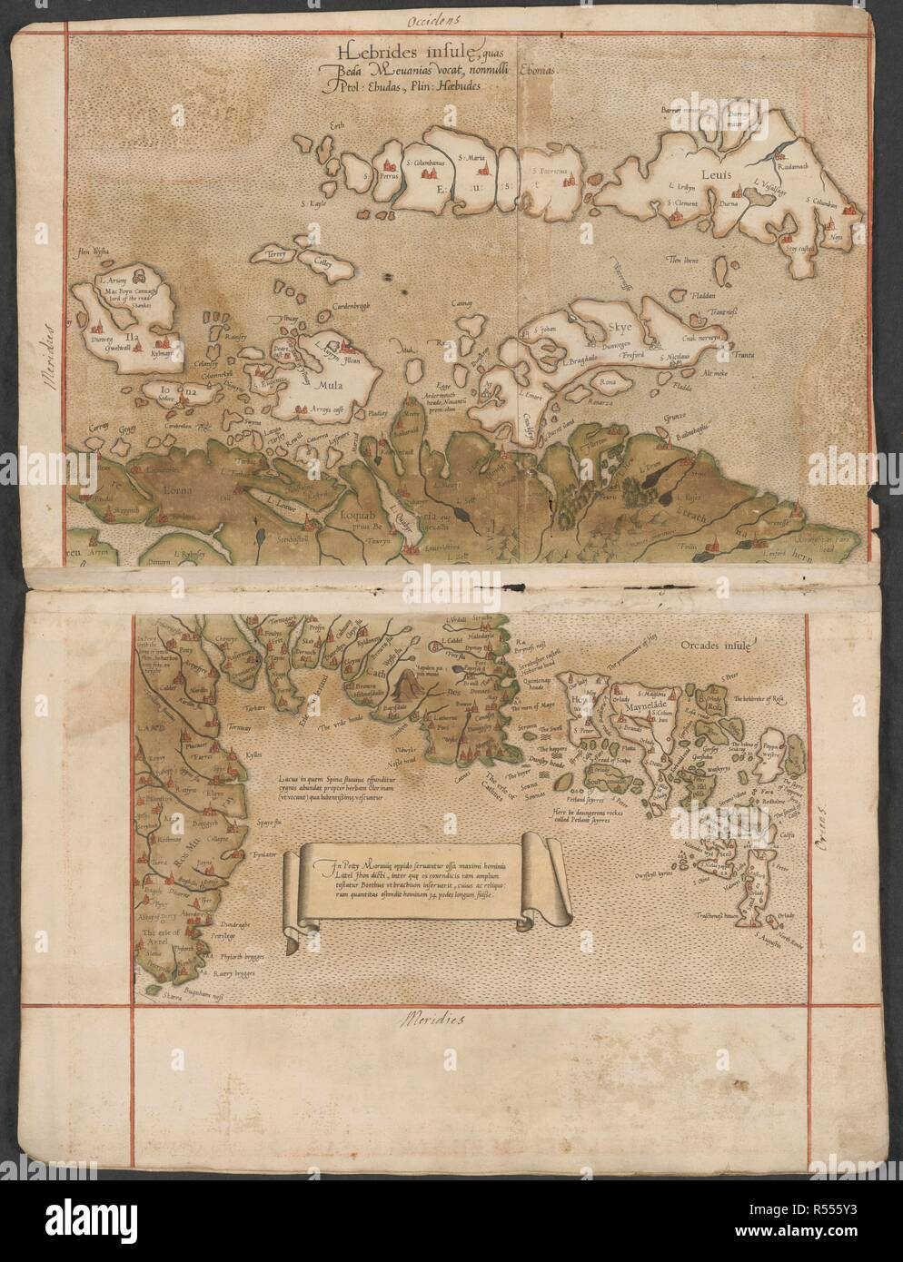 1570-1572. Map of the Hebrides. Image taken from The Mercator atlas of  Europe. Originally published/produced in 1570-1572. . Source:  Maps.C.29.c.13, 11.