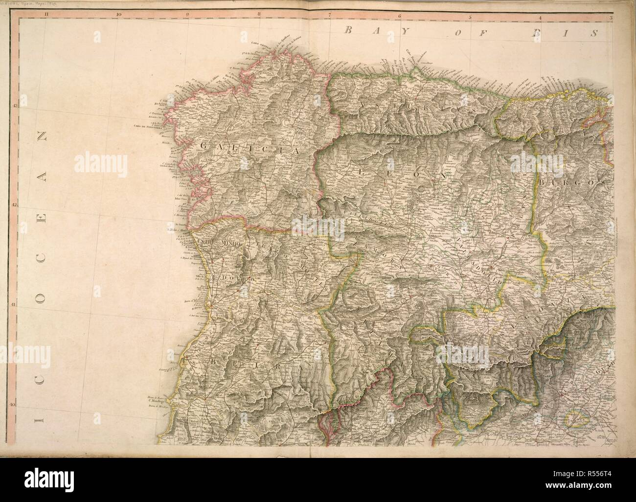 Map Of Spain Zamora.A Map Of Spain With The Following Place Names In Bold Galicia