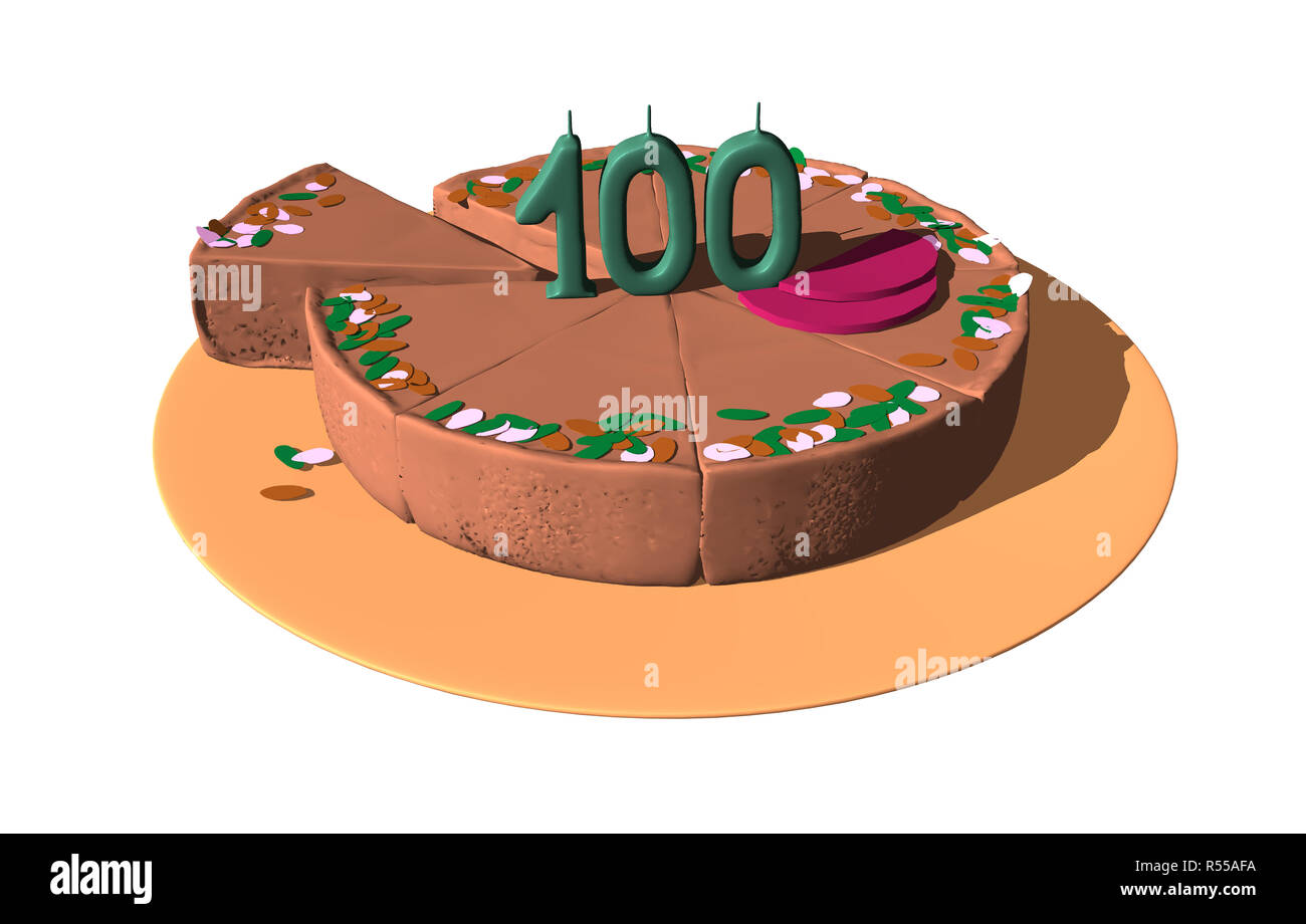 Birthday Cake For The 100th Anniversary