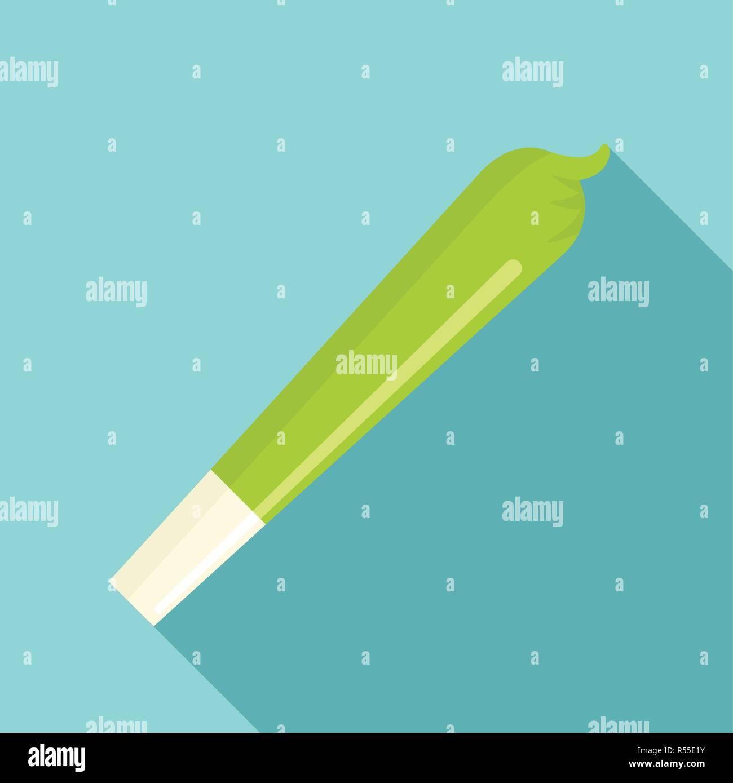Marijuana cigar icon. Flat illustration of marijuana cigar vector icon for web design - Stock Image