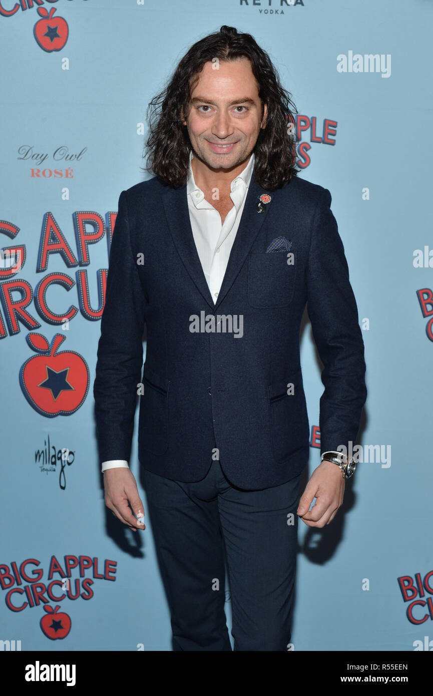 5fa149696 Constantine Maroulisr attends the Opening Night Performance Of Big Apple  Circus at at Lincoln Center on October 28