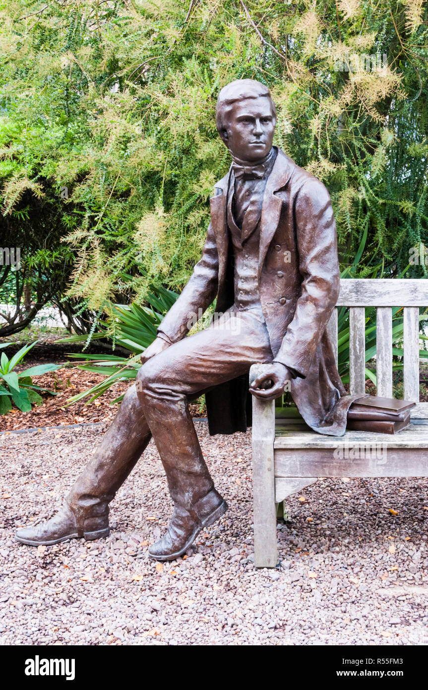 Statue of Charles Darwin by Anthony Smith at Christ's College, Cambridge. - Stock Image
