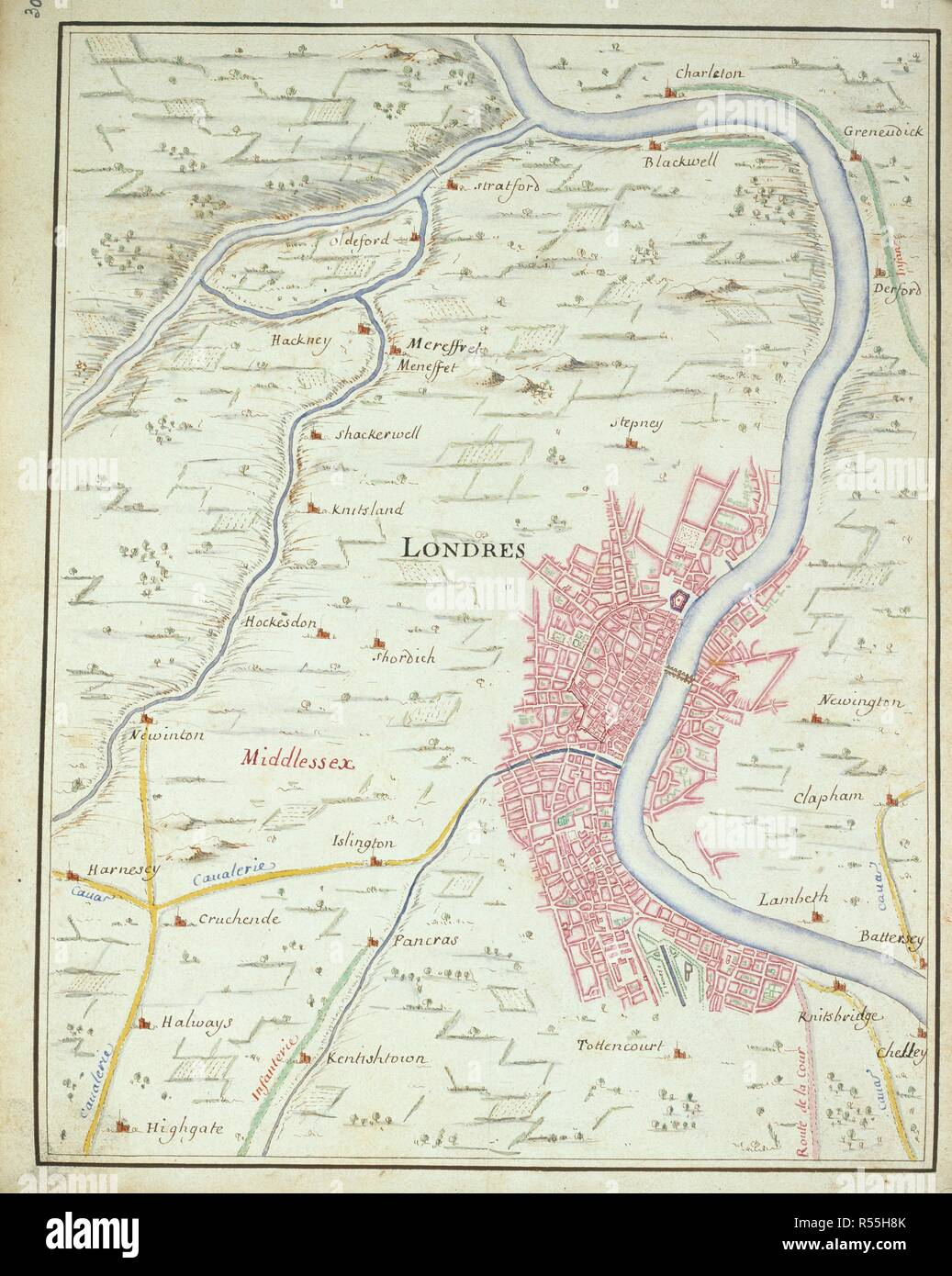 Knightsbridge London Map.Map Of London Invasion Of England By The Prince Of Orange 1688