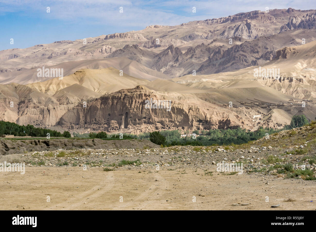 View of Bamiyan Valley - Afghanistan - Stock Image