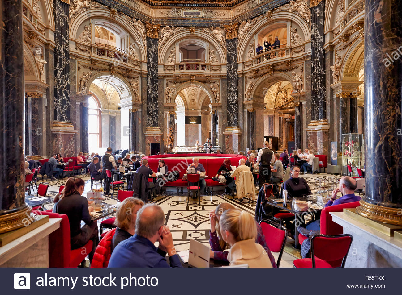 The café inside Kunsthistorisches Museum. Vienna Austria Stock Photo