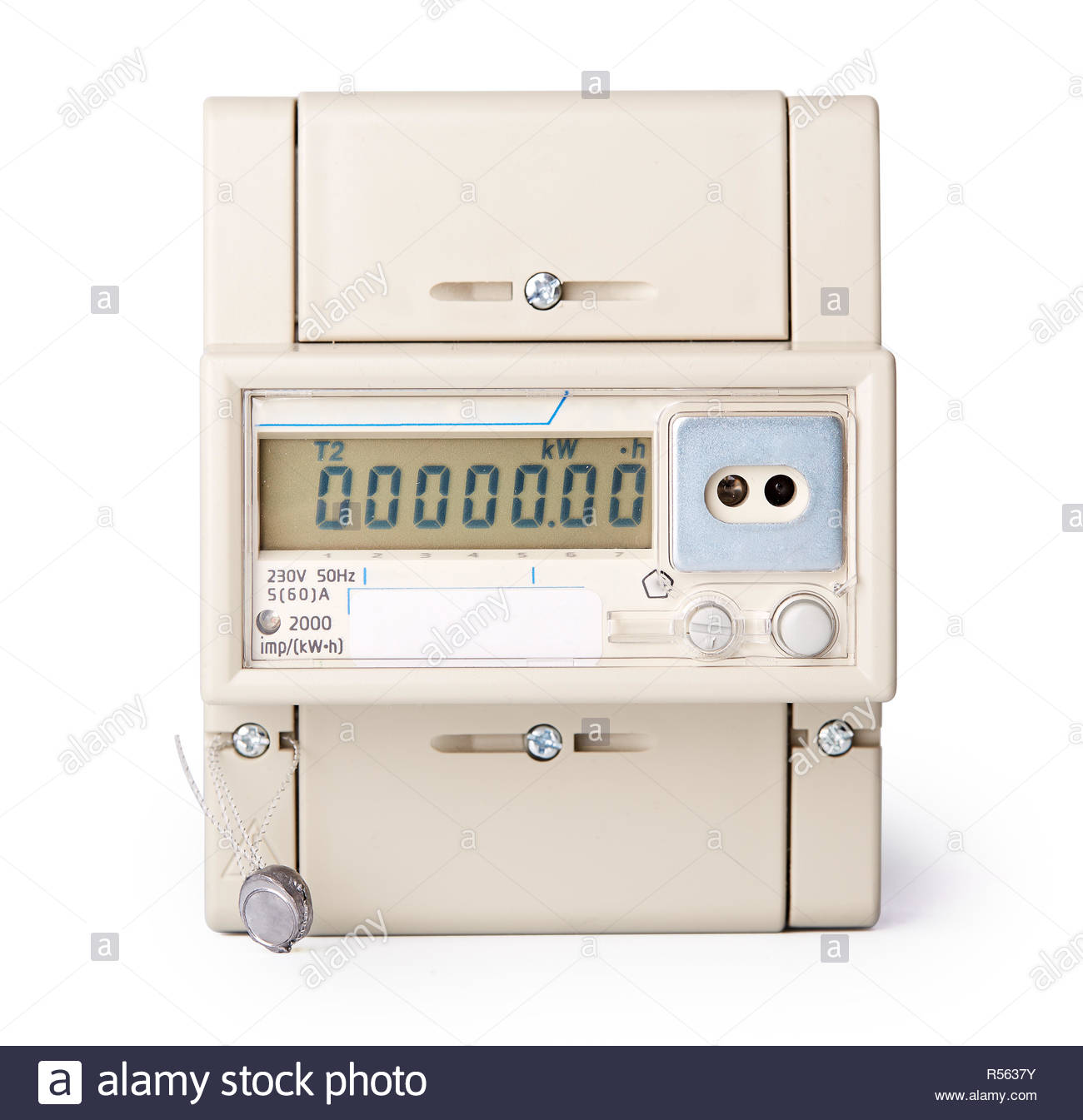 Electric meter. - Stock Image