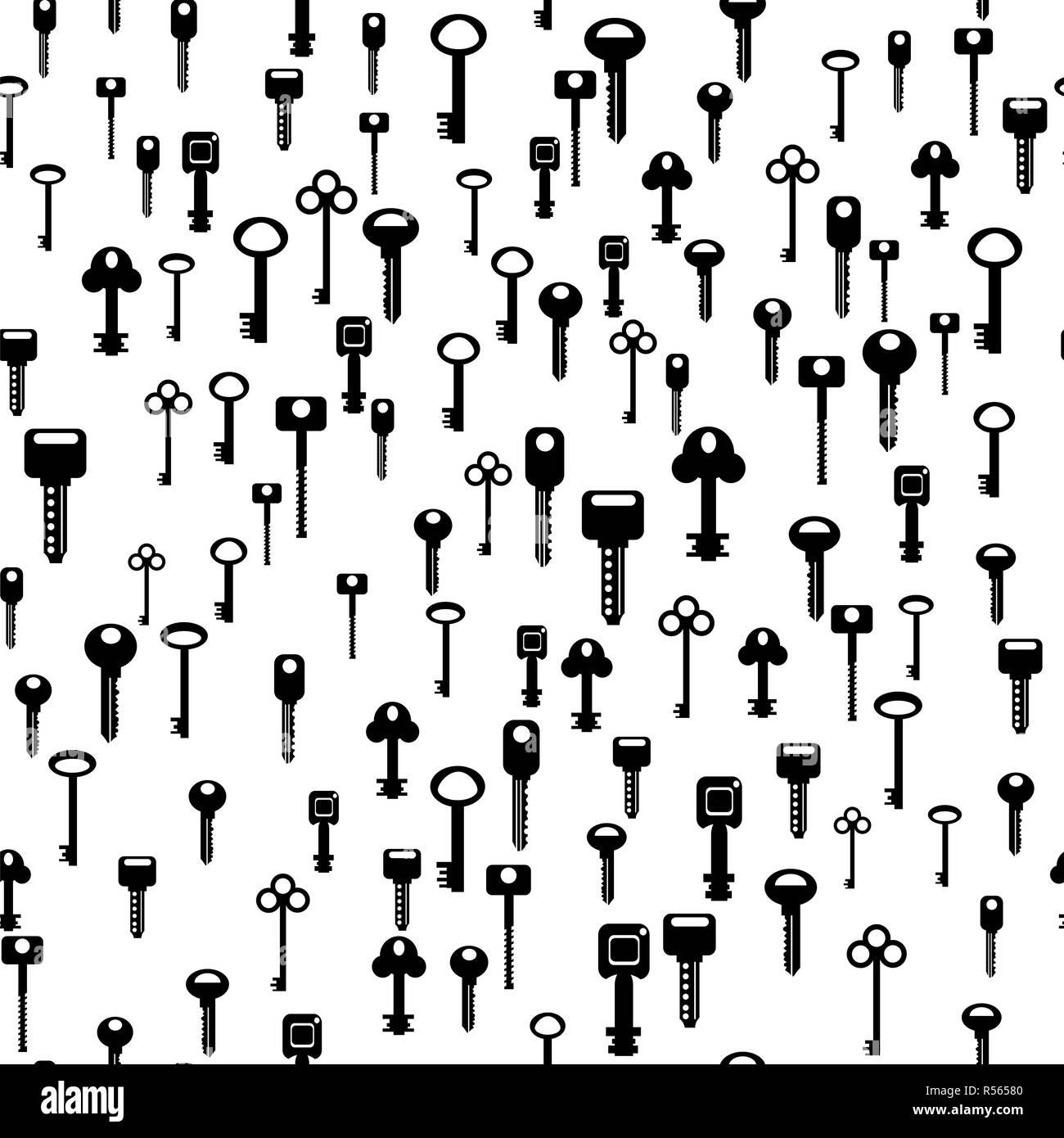 Seamless Key Pattern - Stock Image