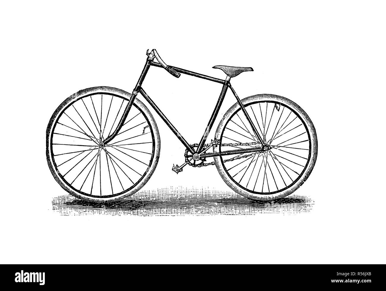 Velocipede, bicycle, 19th century and earlier, rover, 1880, woodcut, Germany - Stock Image