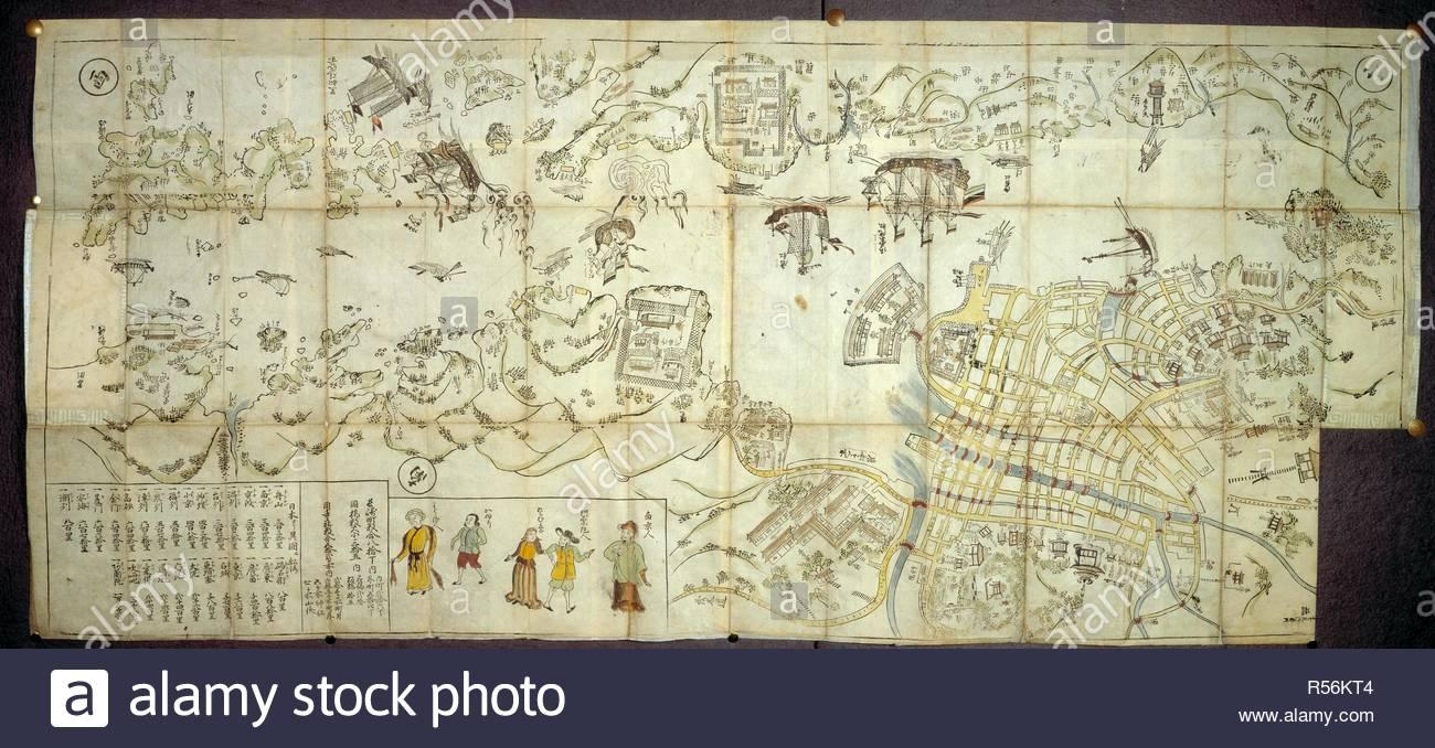 Nagasaki Harbour. 1680. Nagasaki Ezu. Map of Nagasaki ... on nikko japan, printable map japan, info about japan, hyogo japan, kawasaki japan, hamamatsu japan, kanagawa japan, takayama japan, languages spoken in japan, winter in japan, honshu japan, world map japan, sendai japan, hiroshima japan, yokota japan, gifu japan, hakone japan, mountains in japan, nagoya japan,