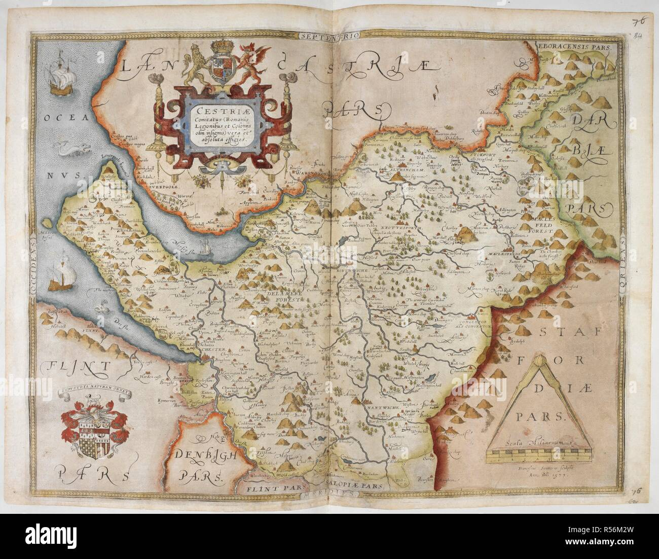 Map Of Cheshire Lord Burghley S Atlas Maps Of Counties Of England