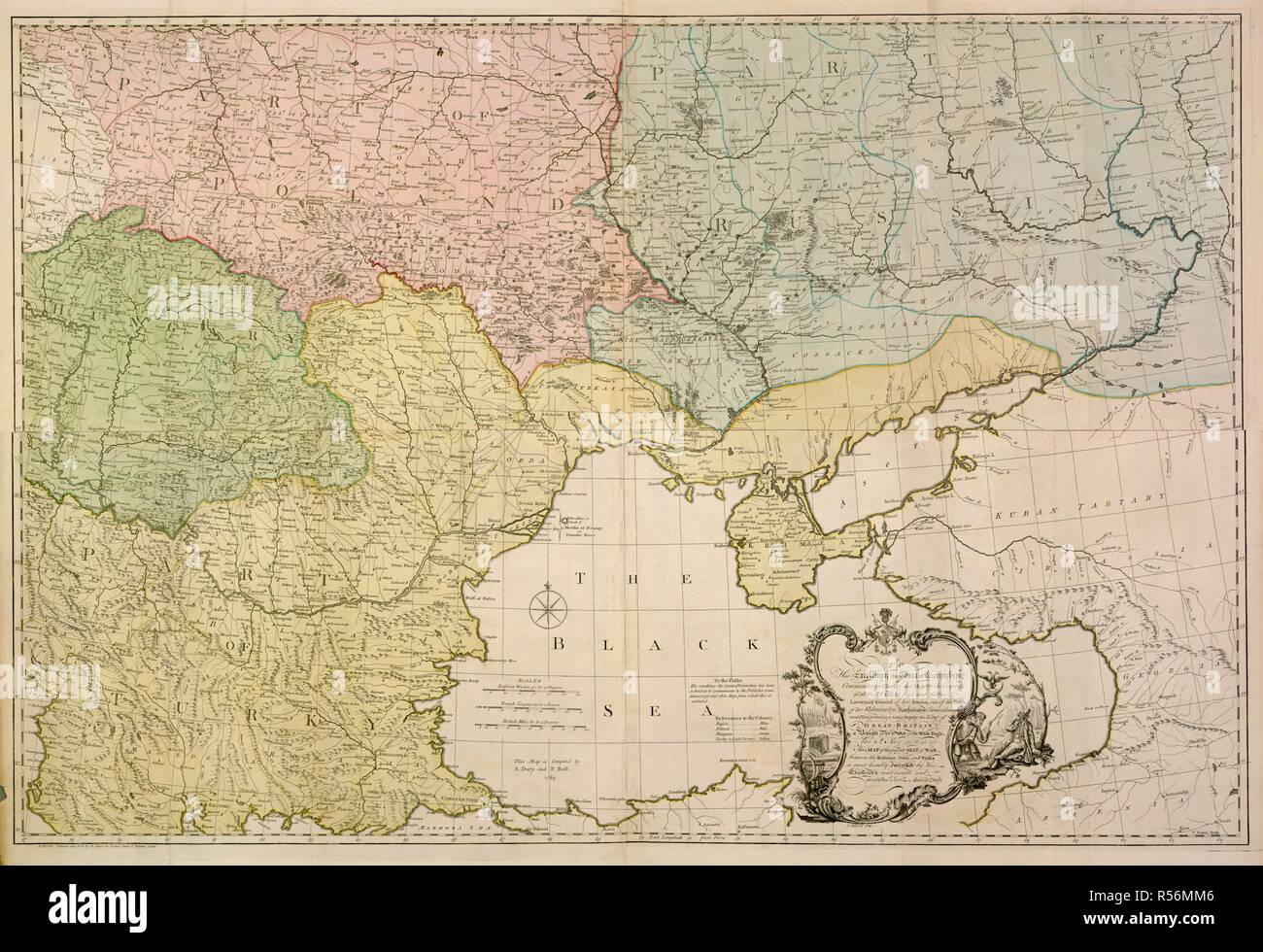 An 18th century map of Eastern Europe. To His Excellency the ...