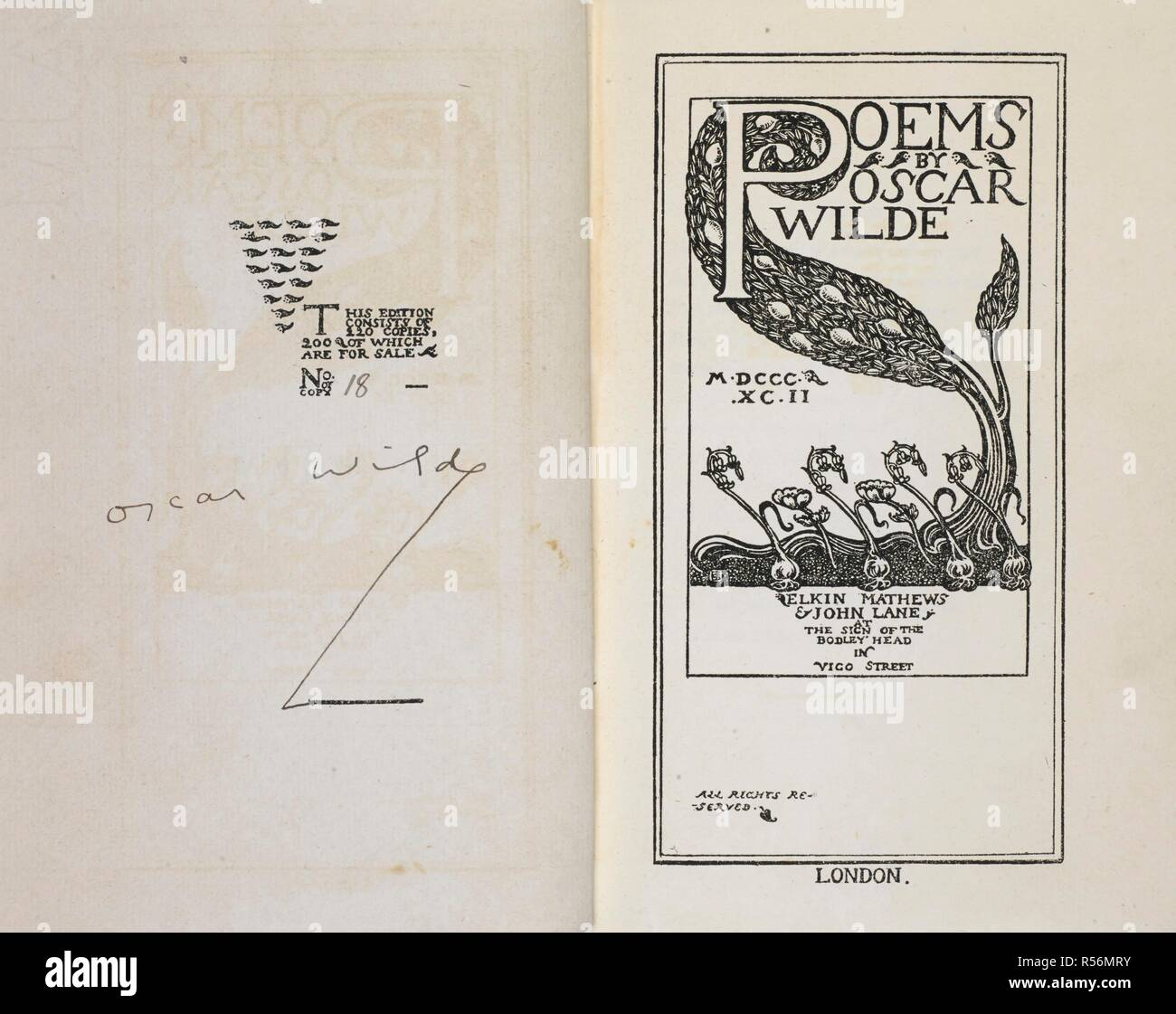 Signature Of Oscar Wilde And An Illustrated Title Page