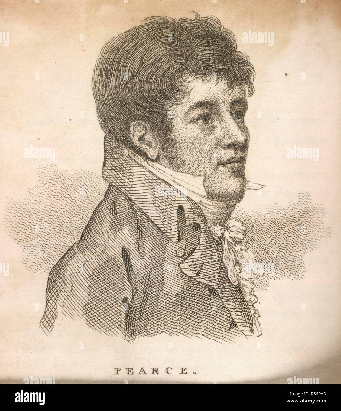 Hen Pearce. Boxiana; or Sketches of ancient and modern pugilis. G. Smeeton: London, 1812. Hen Pearce (1777-1809). Pugilist/Boxer. Known as 'the Game chicken'. A popular fighter, never beaten in compeition. Image taken from Boxiana; or Sketches of ancient and modern pugilism; from the days of the reowned Broughton and Slack, to the heroes of the present milling æra! By One of the Fancy [i.e. Pierce Egan]. [With plates.] . Originally published/produced in G. Smeeton: London, 1812. Source: 7920.g.30, opposite 145. Language: English. Stock Photo