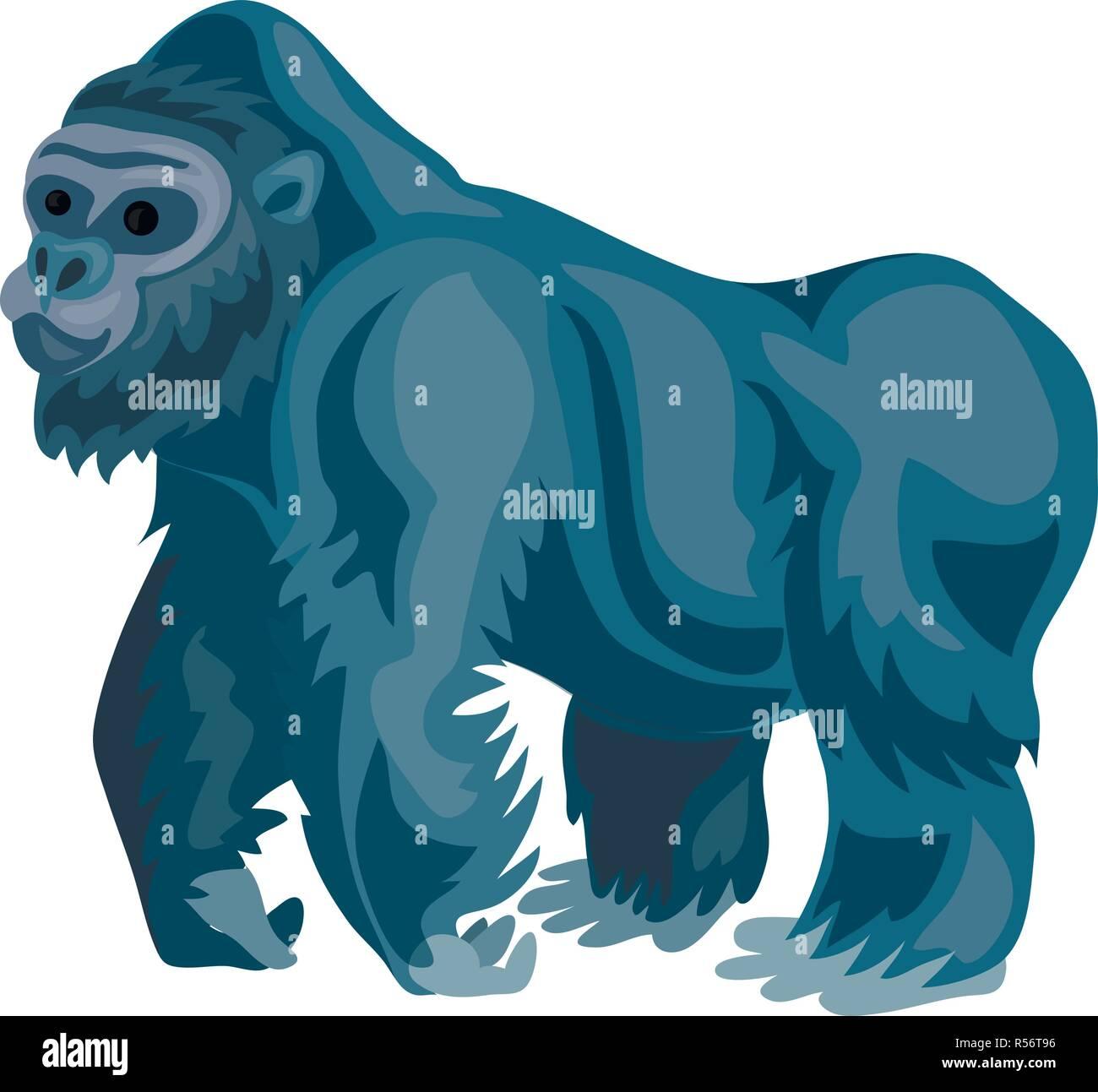 bf95f7c33 Gorilla icon. Cartoon of gorilla vector icon for web design isolated on  white background