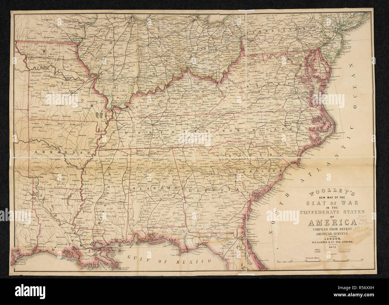 A Map Of The Seat Of War In The Confederate States Of America
