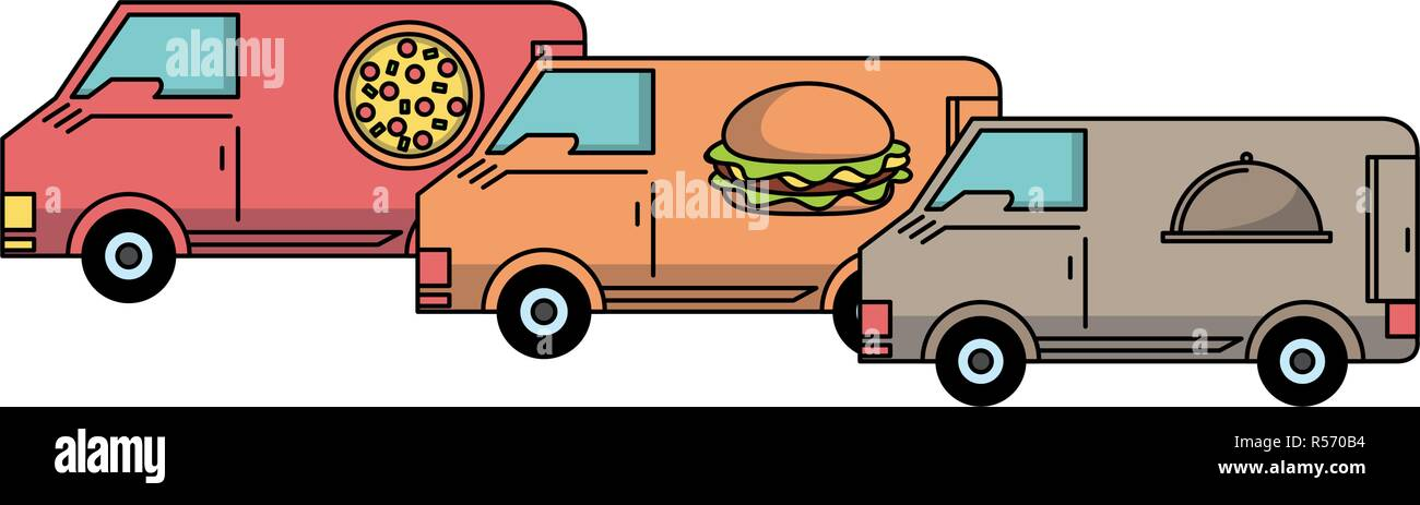 Fast food delivery - Stock Vector