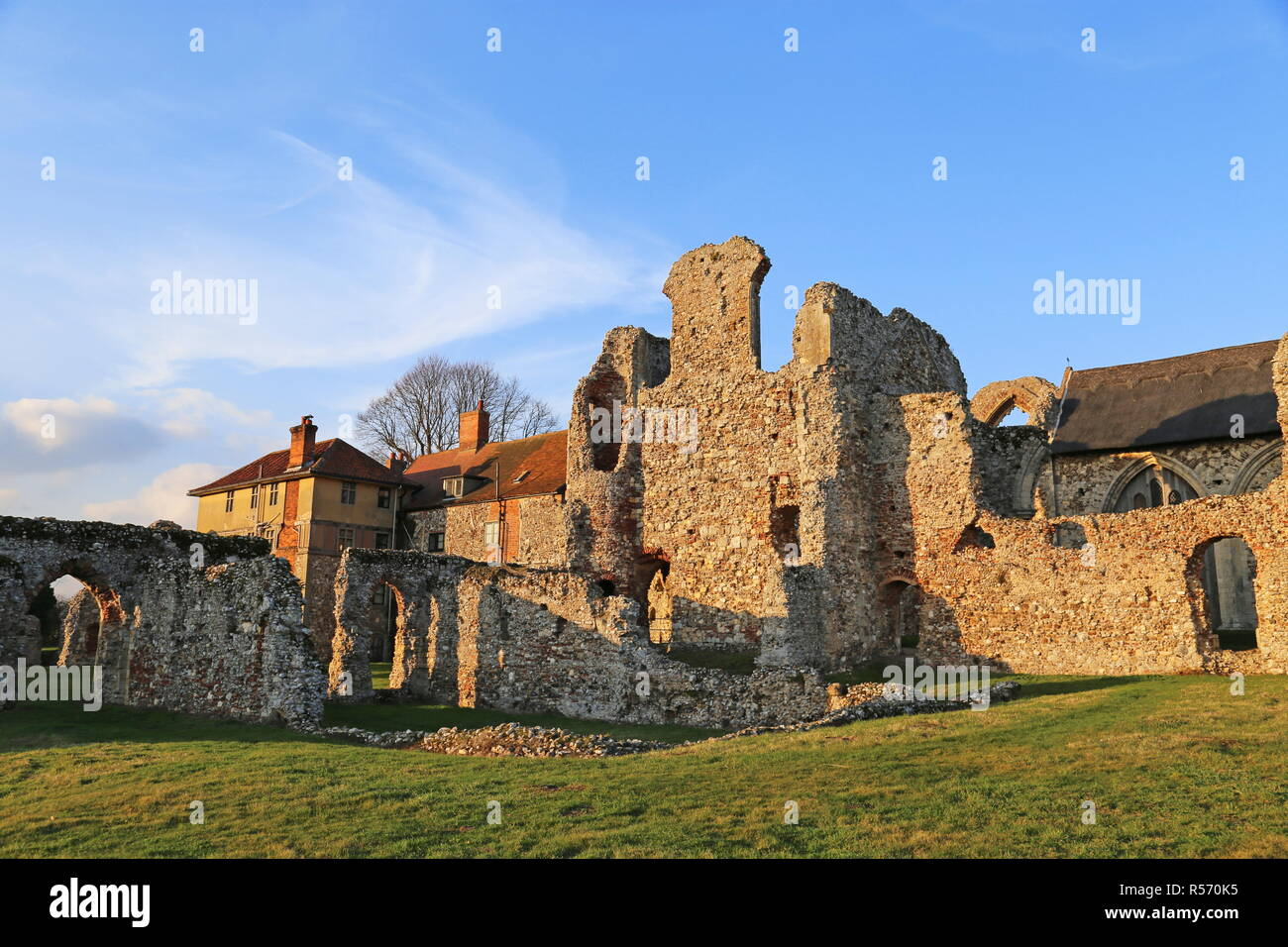 Leiston Abbey, Suffolk Coastal district, Suffolk, East Anglia, England, Great Britain, United Kingdom, UK, Europe - Stock Image