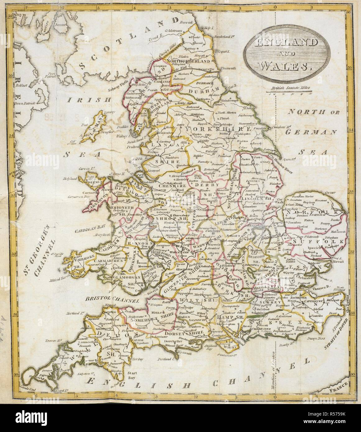 Map Of England 1800.A Map Of England And Wales Prospects And Observations On A Tour In