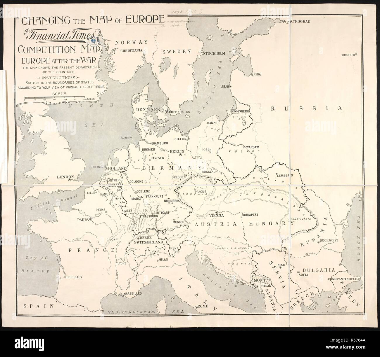 How Did Ww1 Change The Map Of Europe.Map Europe 1914 Stock Photos Map Europe 1914 Stock Images Alamy