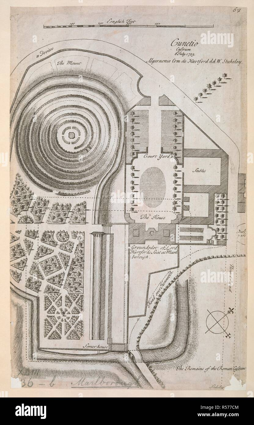A plan of Lord Hartford's House at Marlborough. Cunetio ... Lord House Plan on green plan, church plan, salvation plan,