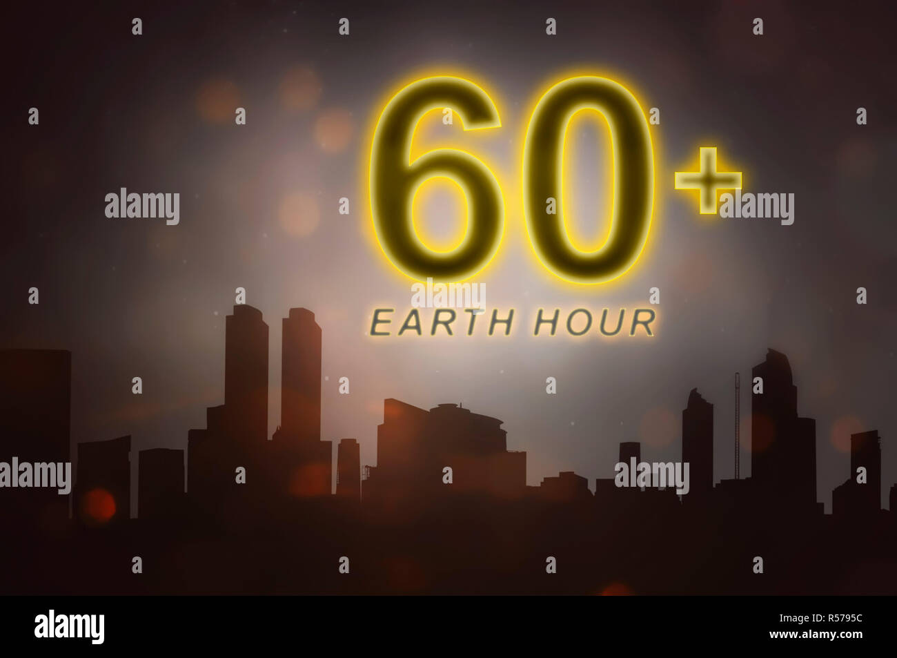 Earth hour message to turn off electrical equipment in 60