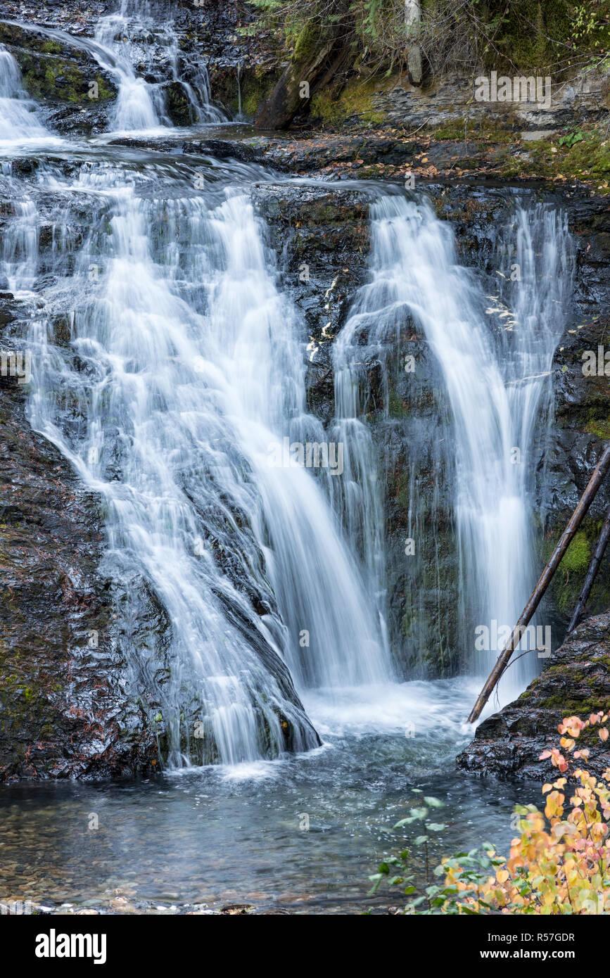 Sweet Creek Falls near Metaline, Washington. - Stock Image