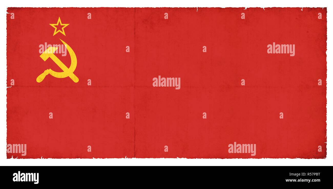 grunge flag of the soviet union - Stock Image
