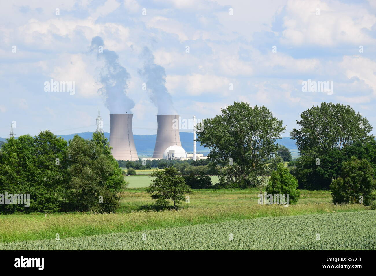 nuclear power plant grohnde Stock Photo