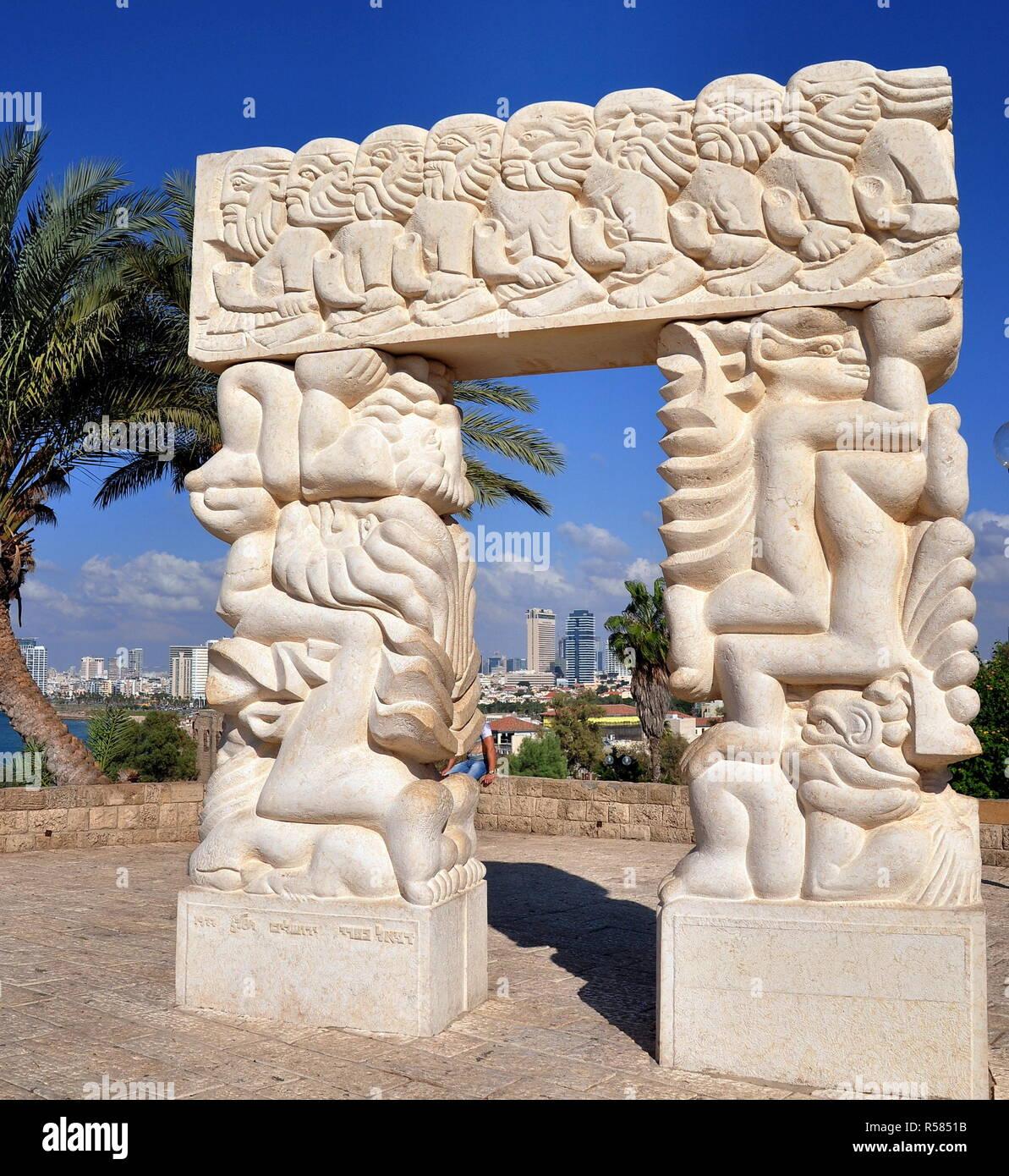 tel aviv - gate of faith in abrasha park of old jaffa Stock Photo