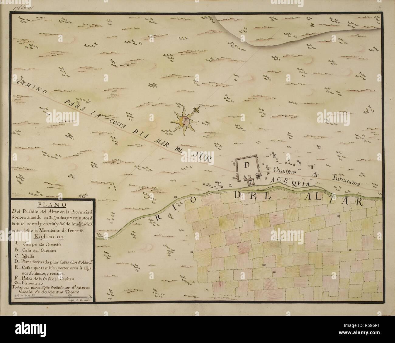Altar Sonora Mexico Map.Plano Del Presidio Del Altar En La Provincia De Sonora Situado En 31