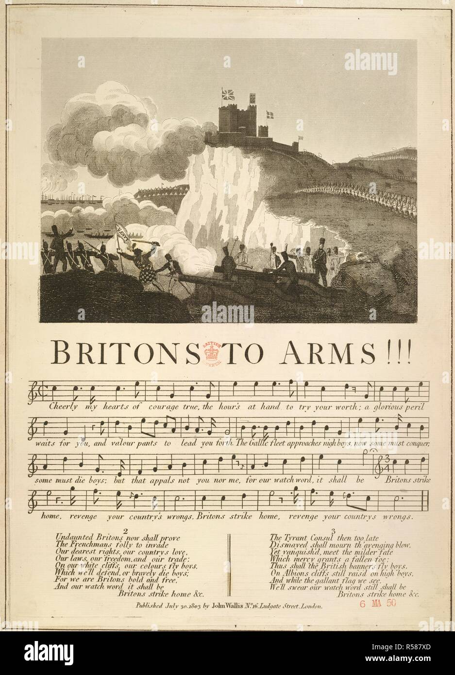 Britons to Arms  Loyal and patriotic hand-bills, songs