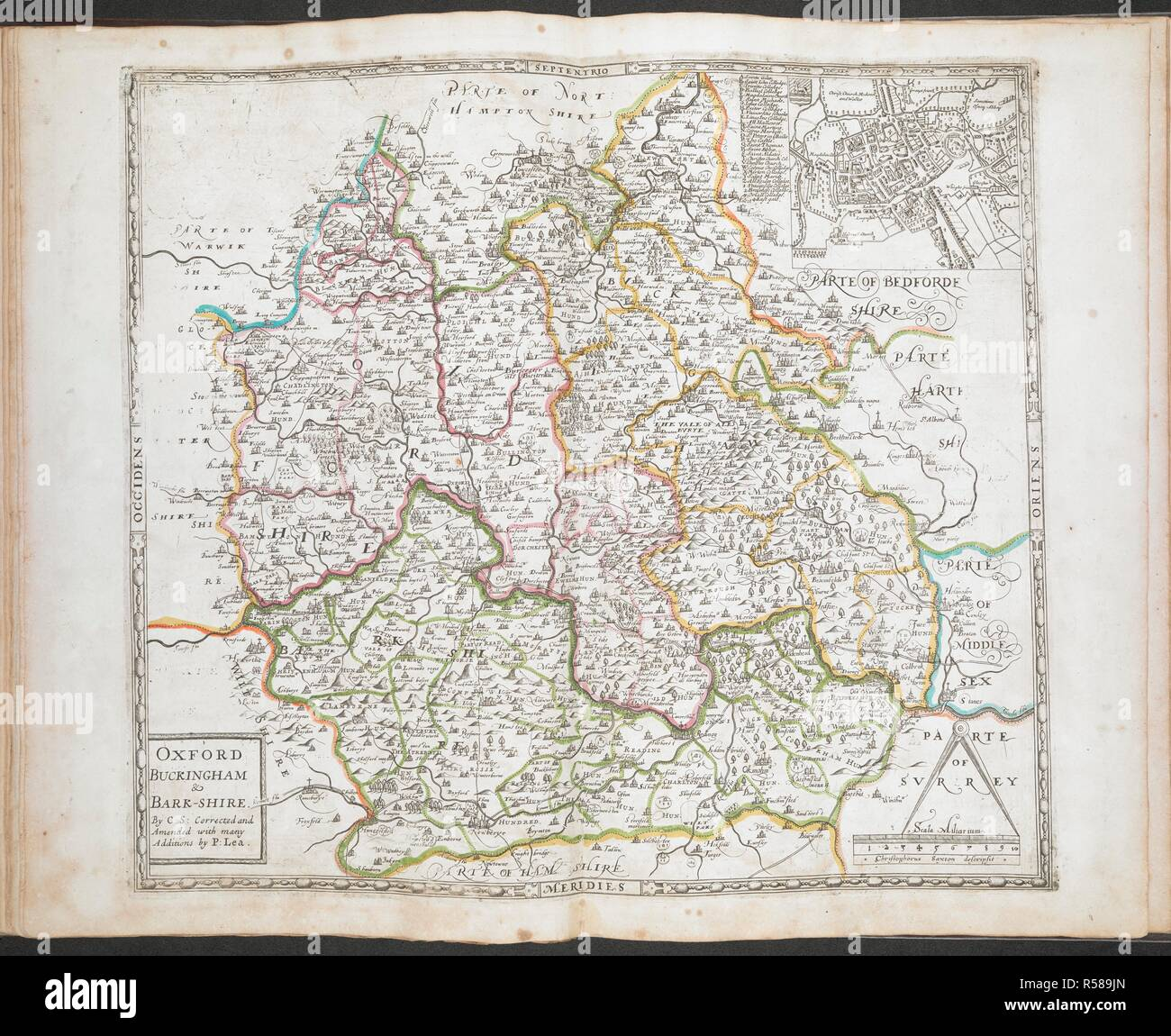 A Map Of Oxford Buckinghamshire And Berkshire All The Shires Of